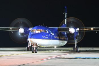 OO-VLE - VLM Airlines Fokker 50
