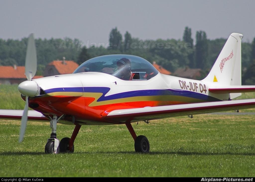 Private OK-JUF 04 aircraft at Nymburk