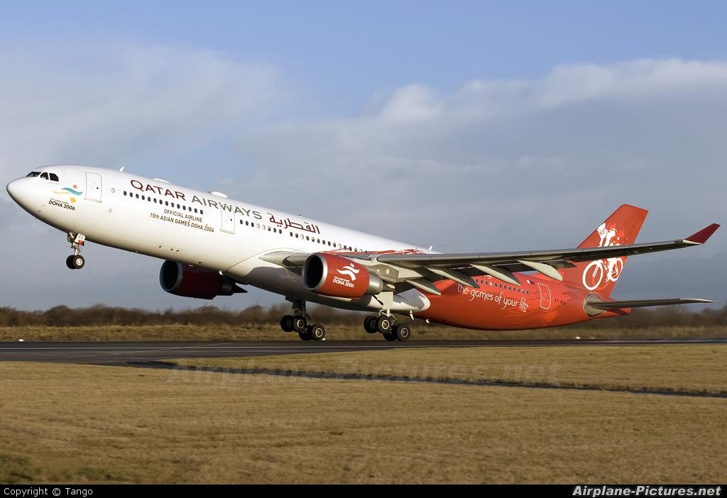 Qatar Airways A7-AEG aircraft at Manchester