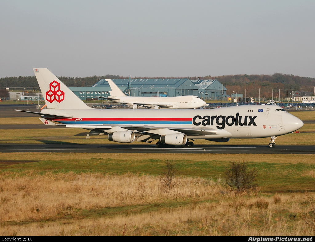 Cargolux LX-UCV aircraft at Prestwick