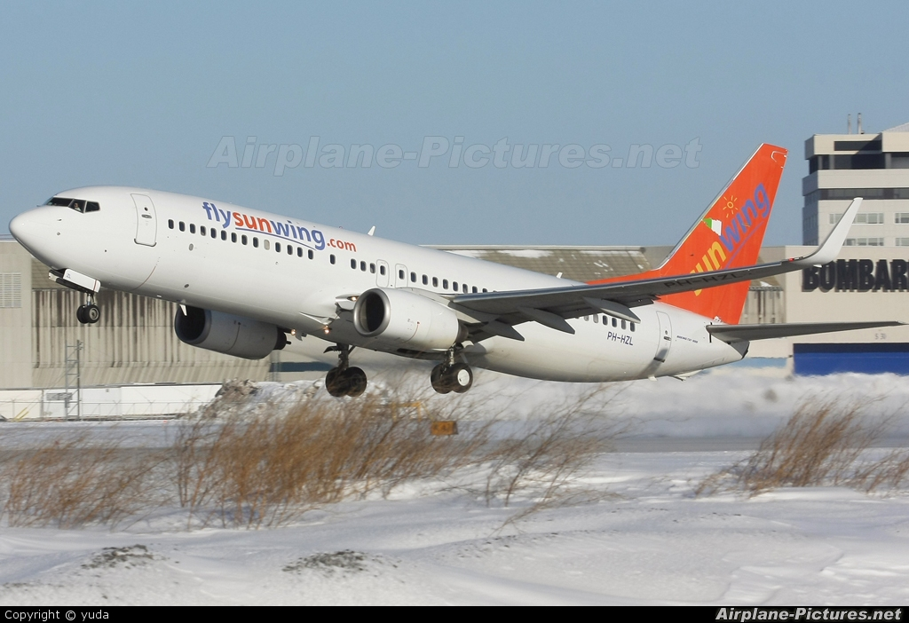 Sunwing Airlines PH-HZL aircraft at Montreal - Pierre Elliott Trudeau Int, QC