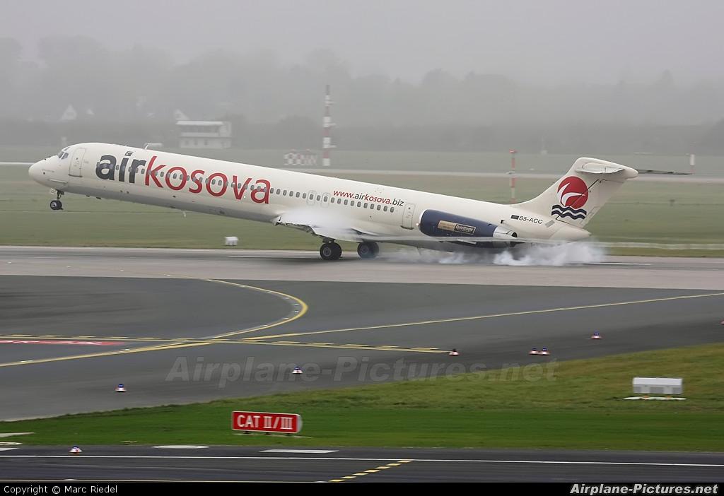 Air Kosova S5-ACC aircraft at Düsseldorf