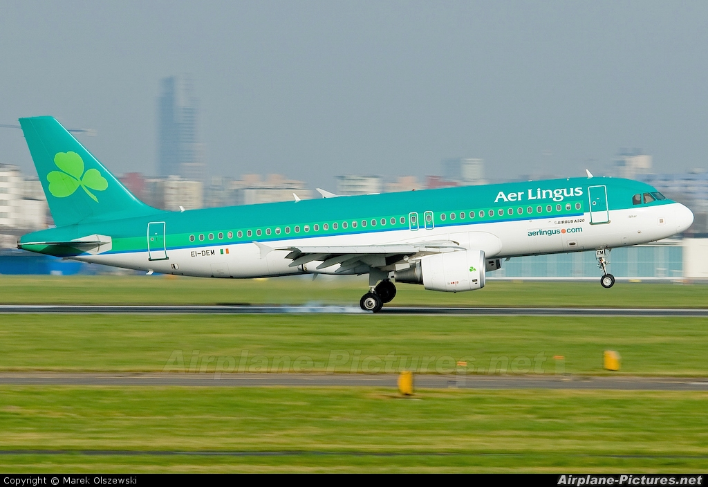 Aer Lingus EI-DEM aircraft at Warsaw - Frederic Chopin