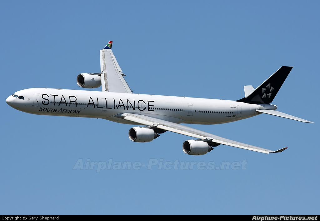 South African Airways ZS-SNC aircraft at Ysterplaat - Cape Town