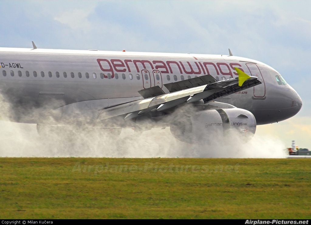 Germanwings D-AGWL aircraft at Prague - Václav Havel