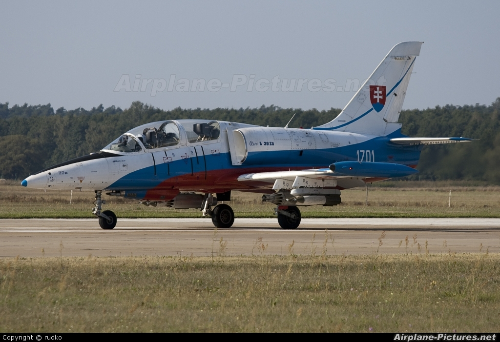 Slovakia -  Air Force 1701 aircraft at Malacky - Kuchyna