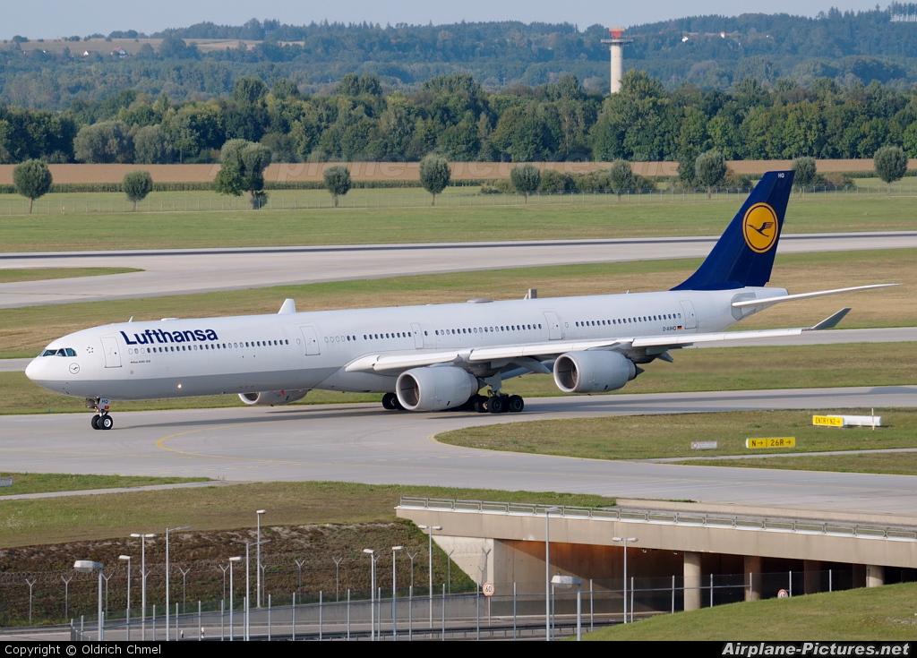 d aihq lufthansa airbus a340 600 at munich photo id 66314 airplane. Black Bedroom Furniture Sets. Home Design Ideas