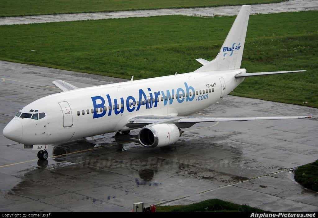 Blue Air YR-BAF aircraft at Bacau