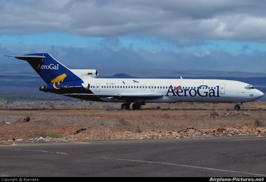 Aerogal HC-CDJ aircraft at Baltra - Galapagos Islands