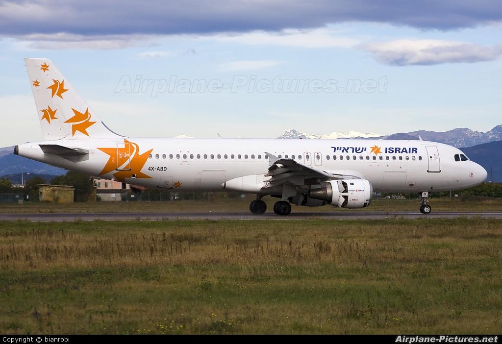 Israir Airlines 4X-ABD aircraft at Verona - Villafranca