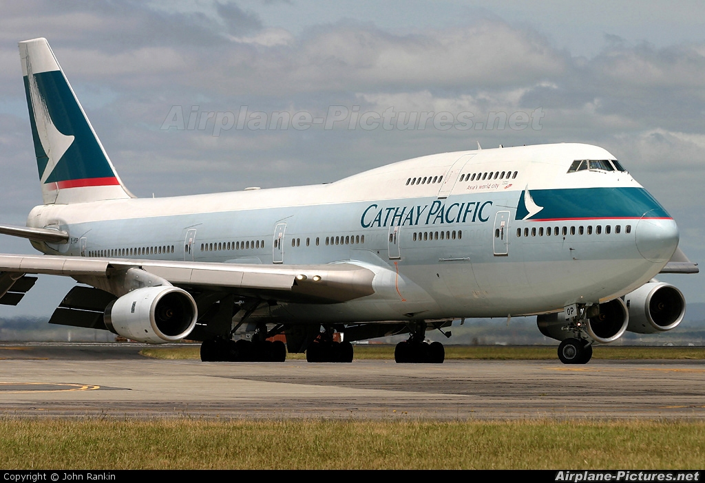 Cathay Pacific B-HOP aircraft at Auckland Intl