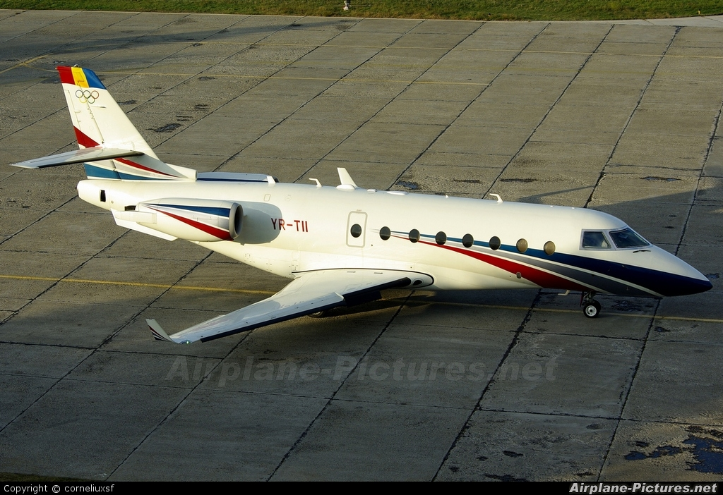 Ion Tiriac Air YR-TII aircraft at Bacau