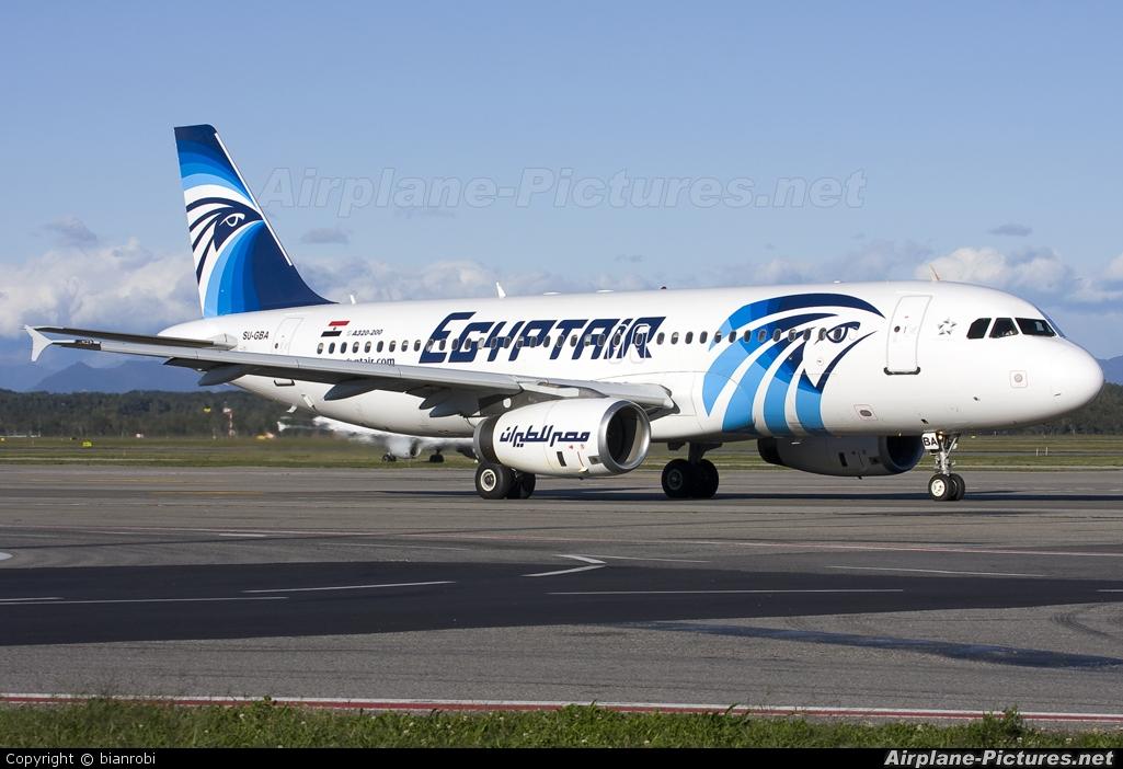 Egyptair SU-GBA aircraft at Milan - Malpensa