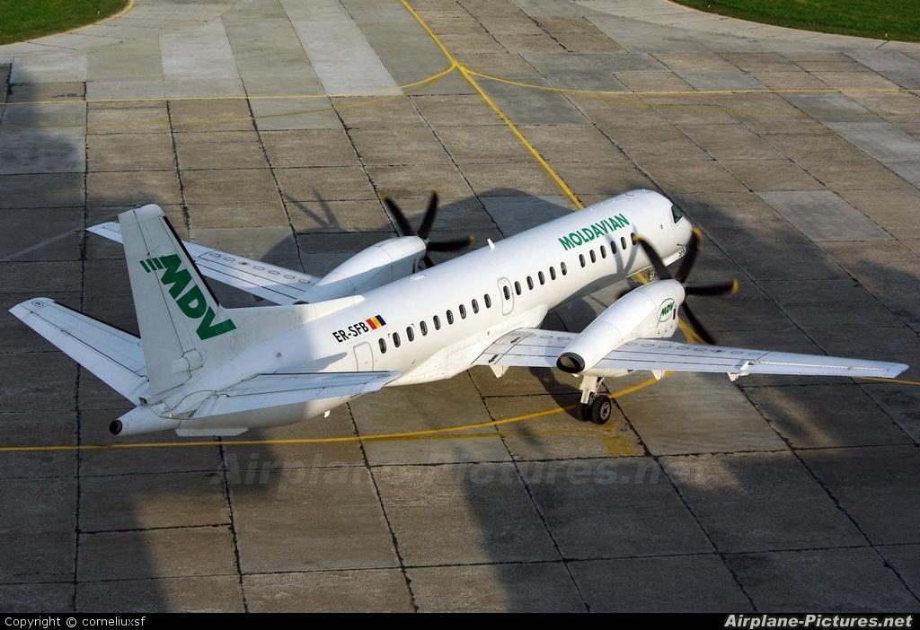 Moldavian Airlines ER-SFB aircraft at Bacau