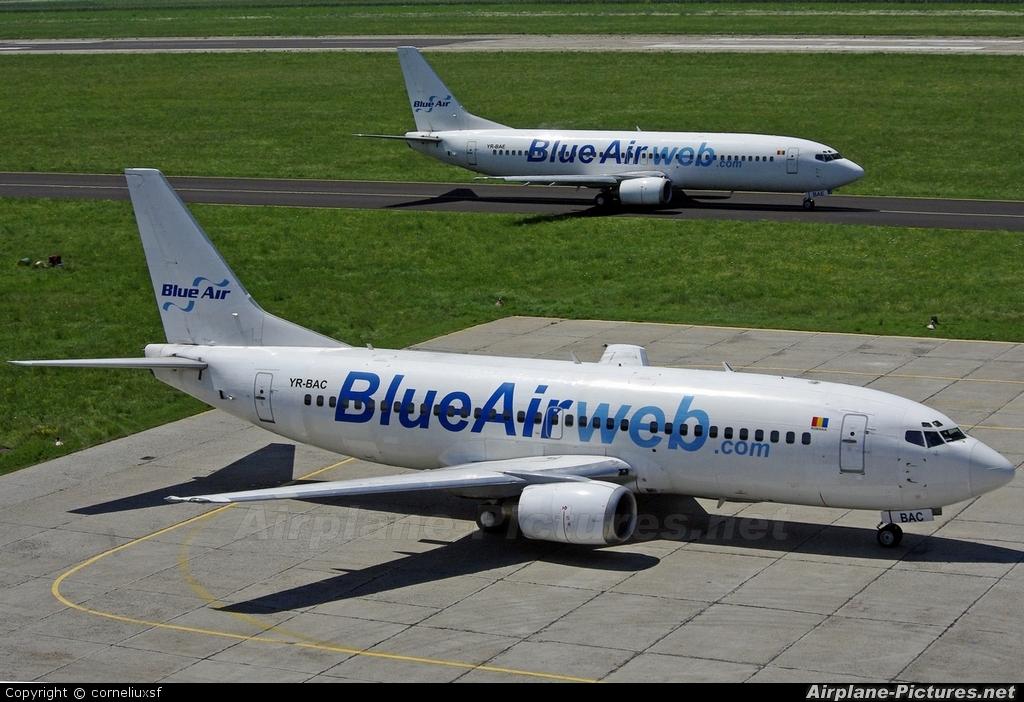 Blue Air YR-BAC aircraft at Bacau