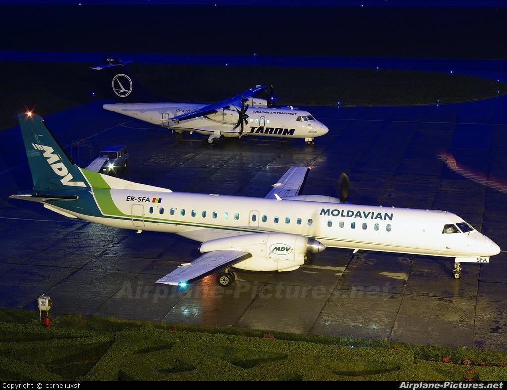 Moldavian Airlines ER-SFA aircraft at Bacau