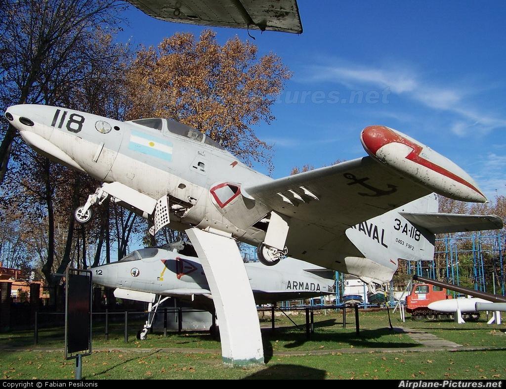 Argentina- Navy 3-A-118 aircraft at Off Airport - Argentina
