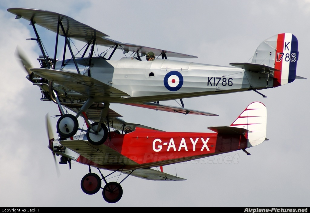 The Shuttleworth Collection G-AFTA aircraft at Old Warden