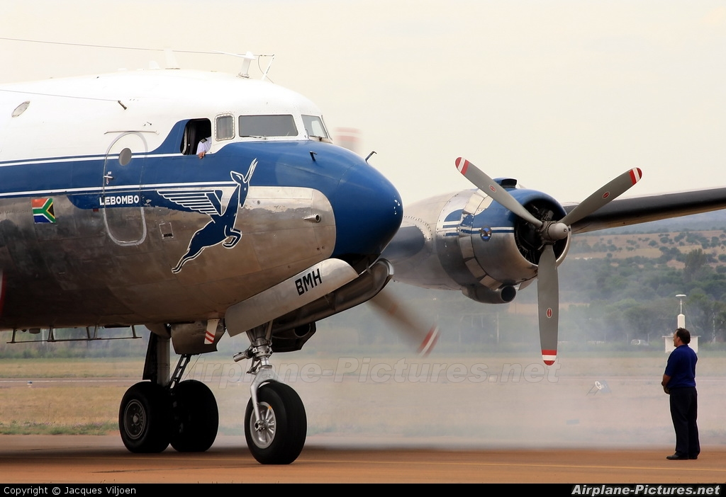 South African Airways Historic Flight ZS-BMH aircraft at Potchefstroom