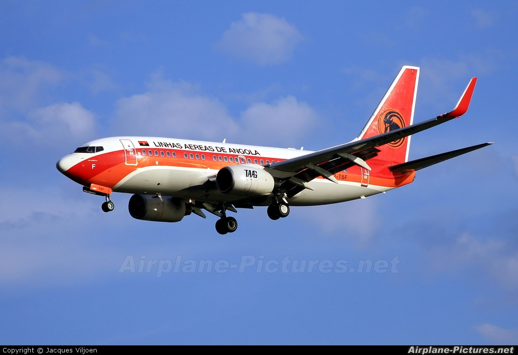 TAAG - Angola Airlines D2-TBF aircraft at Johannesburg - OR Tambo Intl
