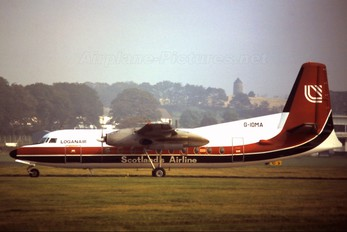 G-IOMA - Loganair Fokker F27