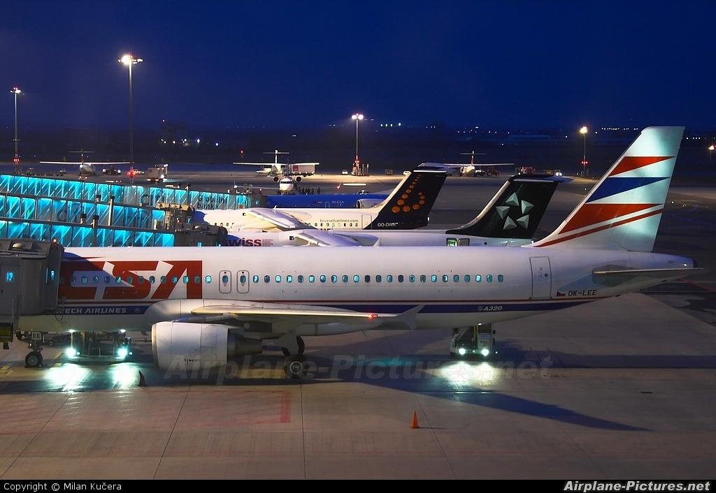 CSA - Czech Airlines OK-LEE aircraft at Prague - Václav Havel