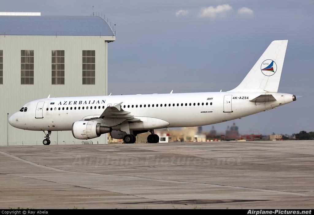 Azerbaijan Airlines 4K-AZ54 aircraft at Malta Intl