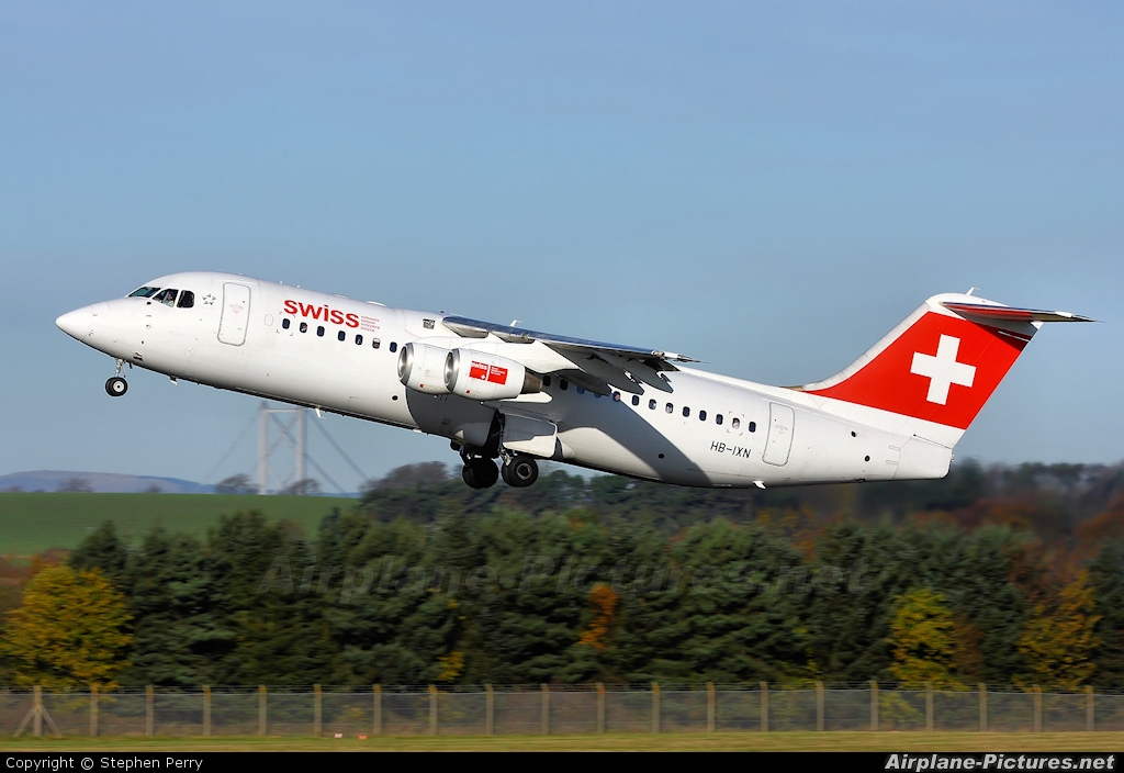 Swiss HB-IXN aircraft at Edinburgh