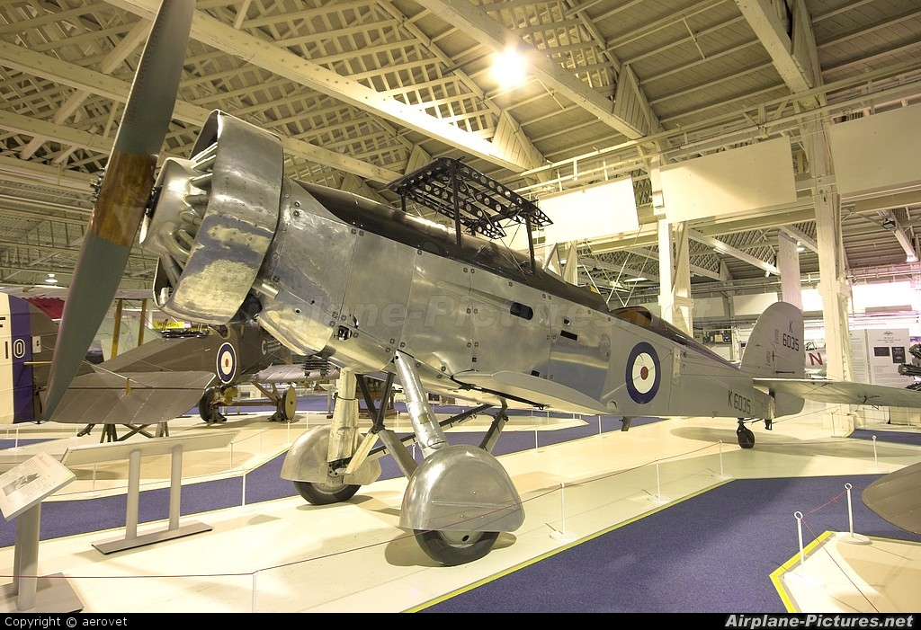 Royal Air Force K6035 aircraft at Hendon - RAF Museum