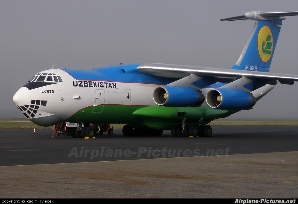 Uzbekistan Airways UK-76426 aircraft at Ostrava Mošnov