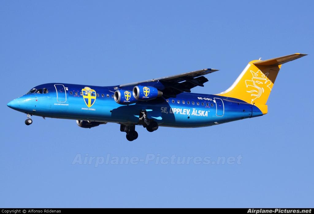 Malmo Aviation SE-DSU aircraft at Barcelona - El Prat