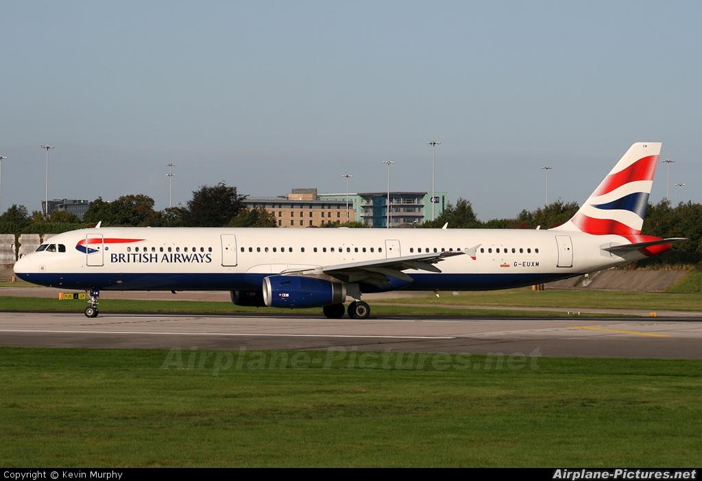 British Airways G-EUXM aircraft at Manchester