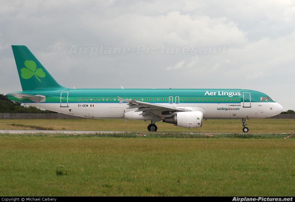 Aer Lingus EI-DEM aircraft at Dublin