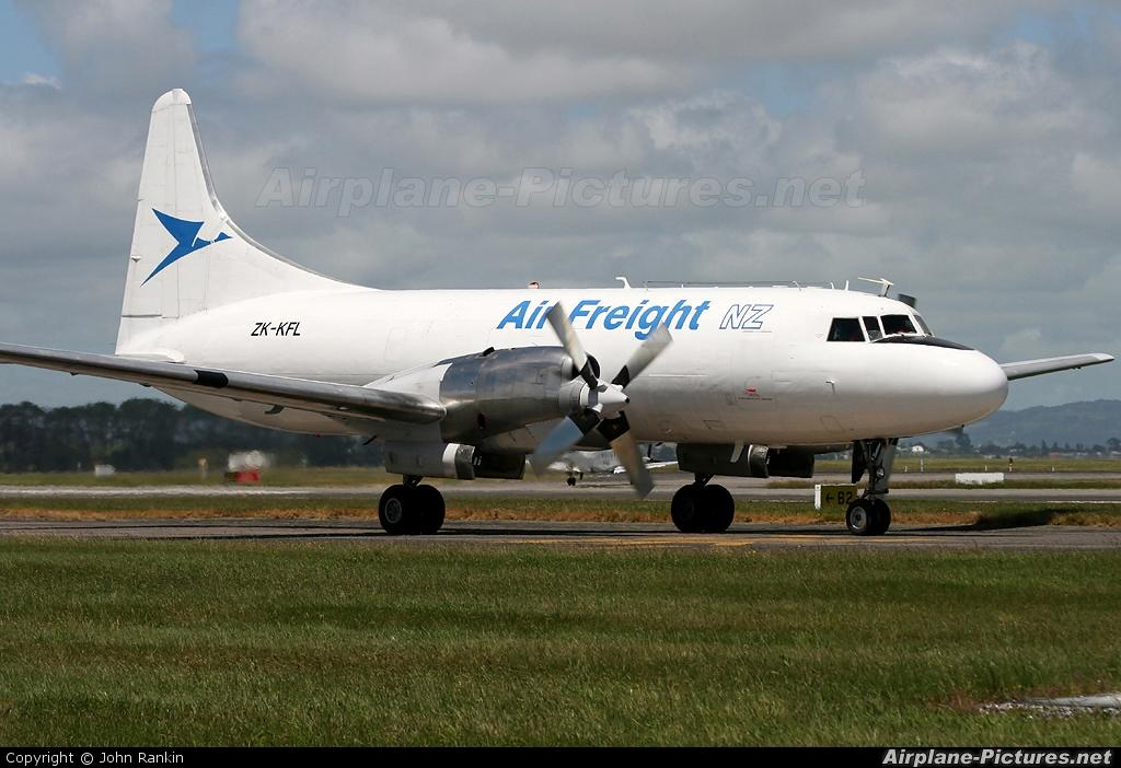 Air Freight NZ ZK-KFL aircraft at Auckland Intl