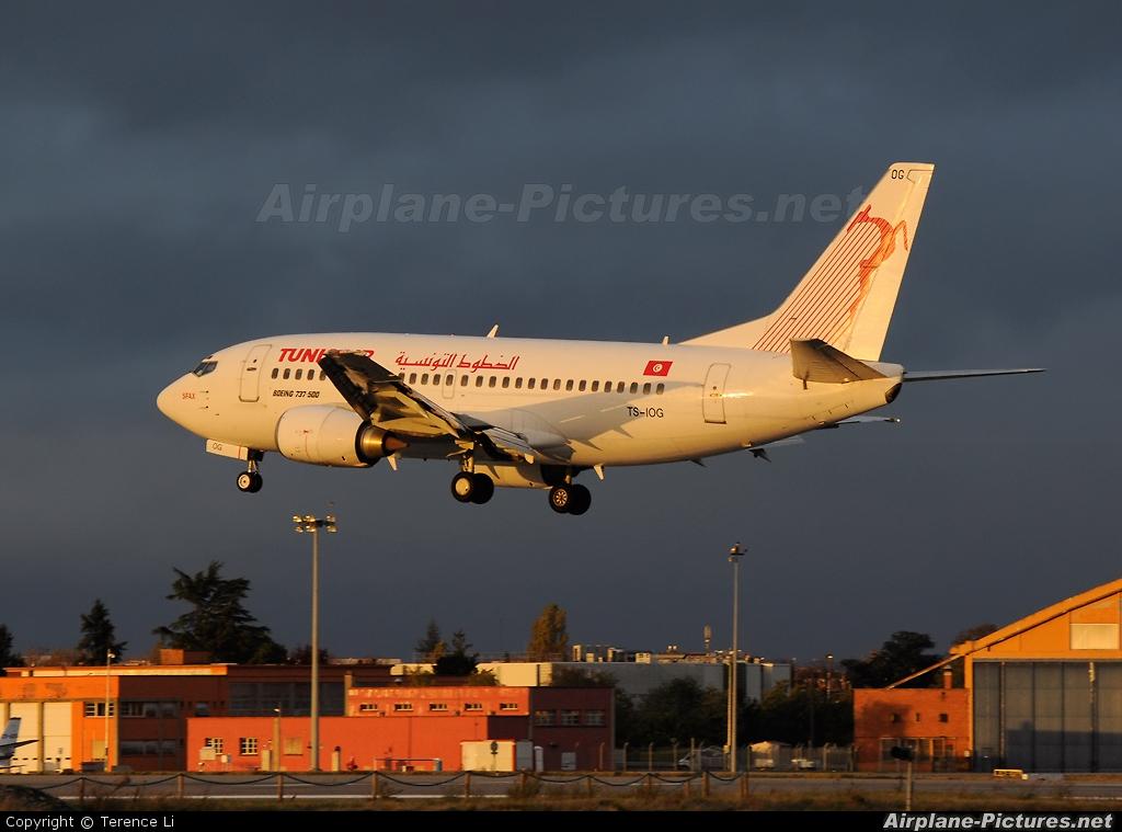 Tunisair TS-IOG aircraft at Toulouse - Blagnac