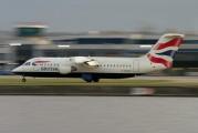 G-BZAV - British Airways British Aerospace BAe 146-300/Avro RJ100 aircraft