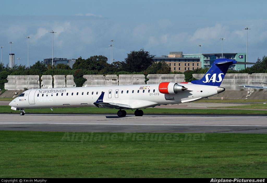 SAS - Scandinavian Airlines OY-KFB aircraft at Manchester