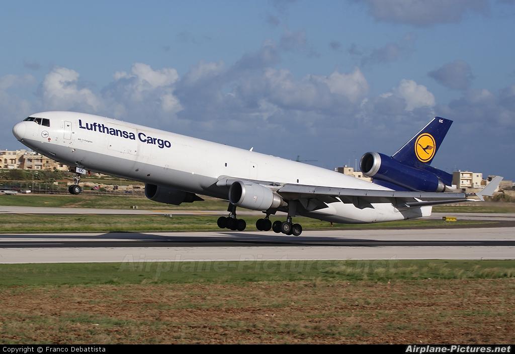 Lufthansa Cargo D-ALCC aircraft at Malta Intl