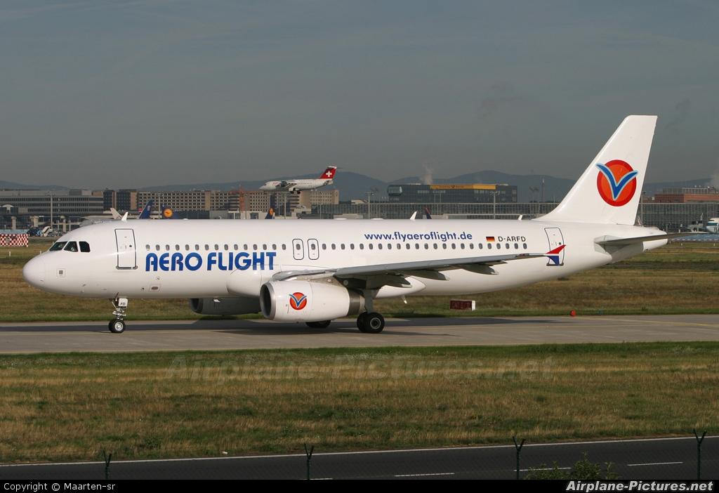 Aero Flight D-ARFD aircraft at Frankfurt