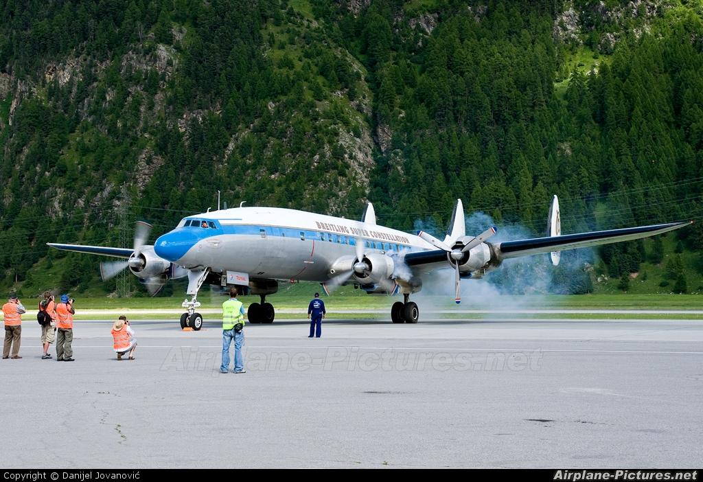 Super Constellation Flyers HB-RSC aircraft at Samedan - Engadin