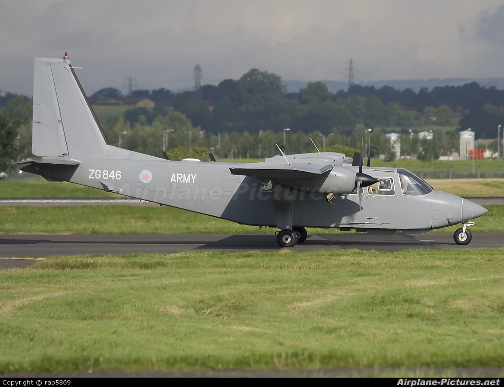 British Army ZG846 aircraft at Glasgow