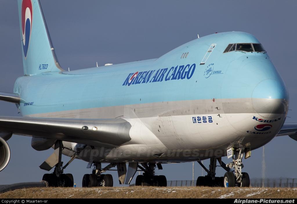 Korean Air Cargo HL7603 aircraft at Amsterdam - Schiphol