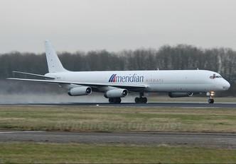 9G-AXD - Meridian Airways Douglas DC-8-63F