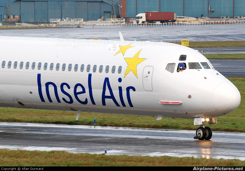 Insel Air N972AG aircraft at Prestwick