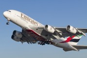 F-WWJB - Emirates Airlines Airbus A380 aircraft