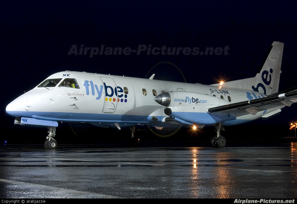 FlyBe - Loganair G-LGNK aircraft at Dundee