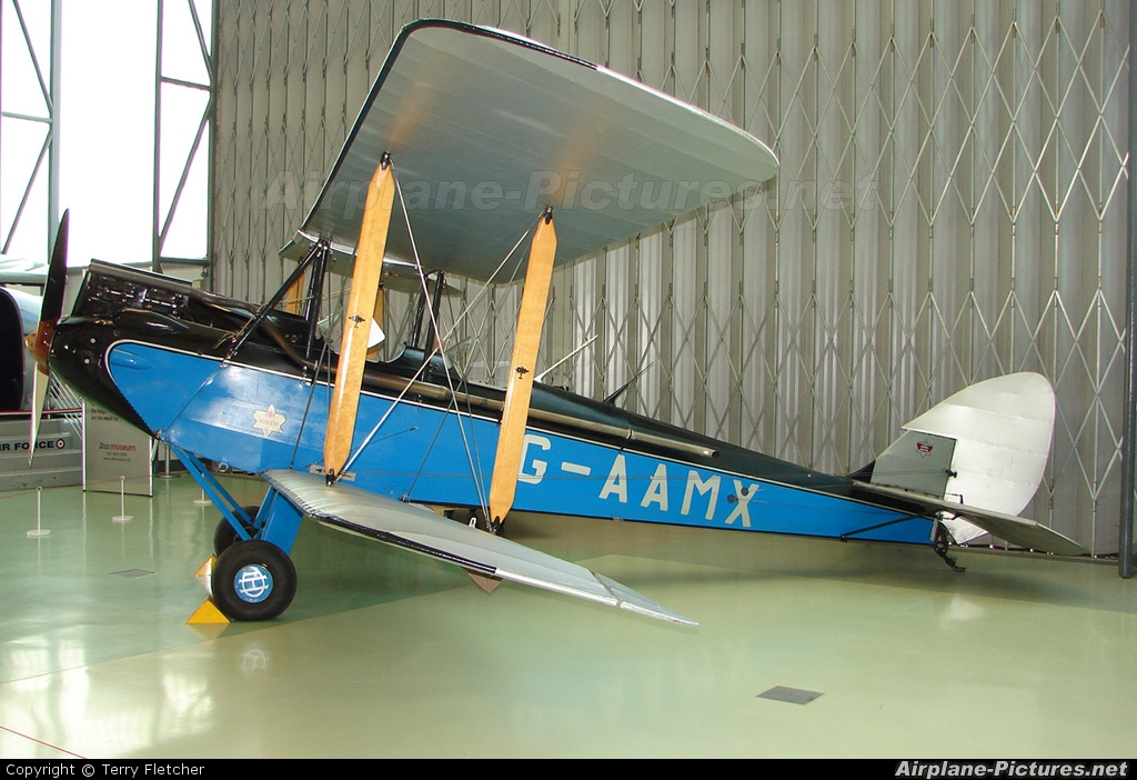 Private G-AAMX aircraft at Hendon - RAF Museum