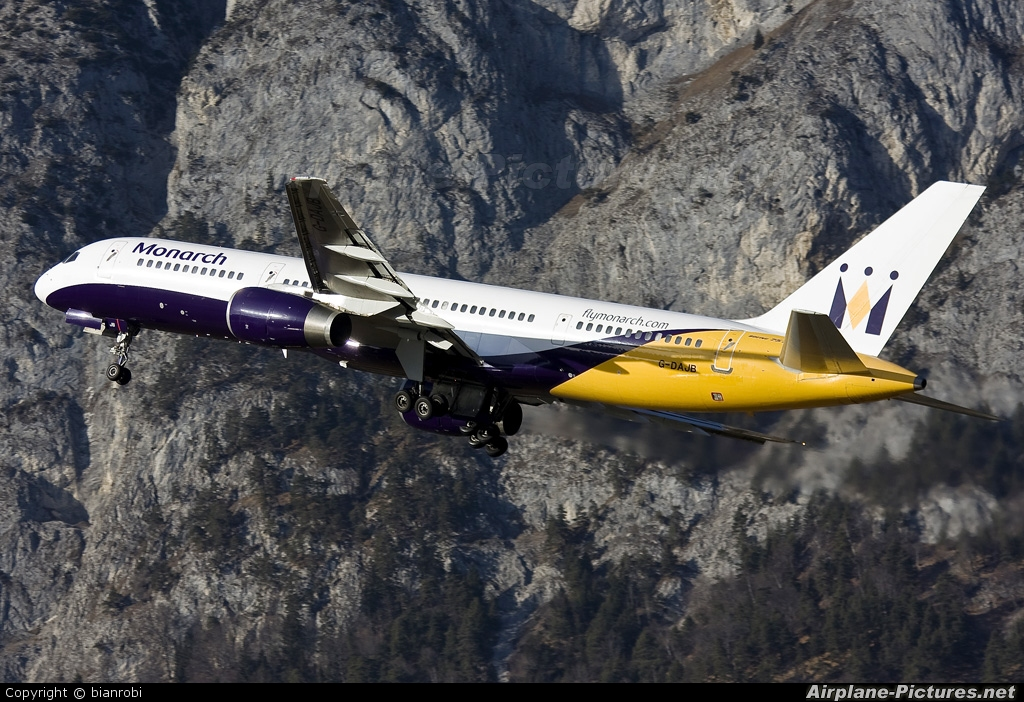 Monarch Airlines G-DAJB aircraft at Innsbruck