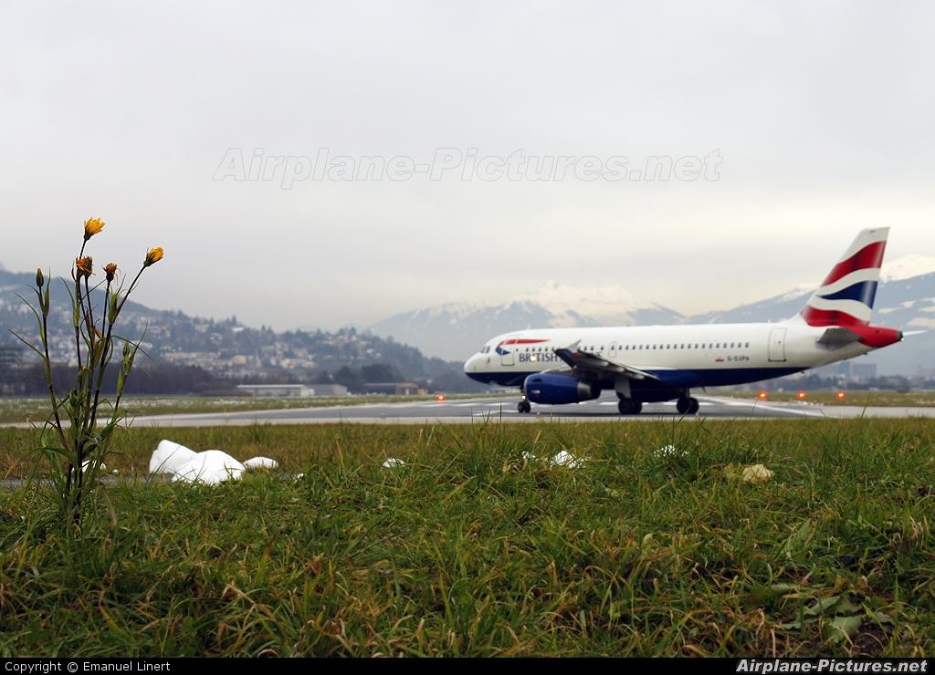 British Airways G-EUPA aircraft at Innsbruck