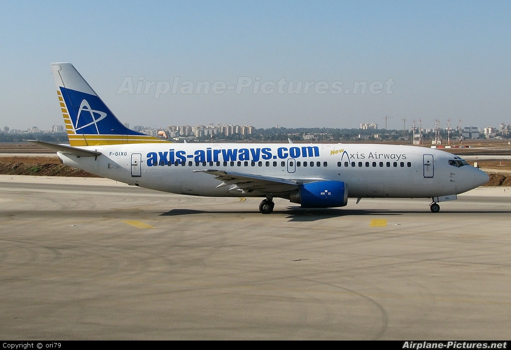 Axis Airways F-GIXG aircraft at Tel Aviv - Ben Gurion